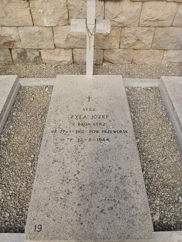 Click image for larger version.  Name:Strz Jozef Zyla grave at Monte Cassino.jpg Views:97 Size:116.0 KB ID:826403