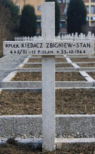 Click image for larger version.  Name:Pplk Zbigniew Stanislaw Kiedacz 15PULP MCC 23596 grave.jpg Views:31 Size:142.1 KB ID:837907