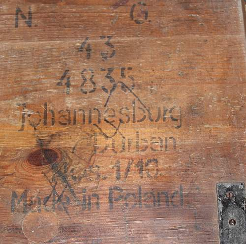 Polish Vet Ammo Box From South Africa