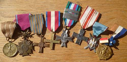 Medal grouping including Monte Cassino