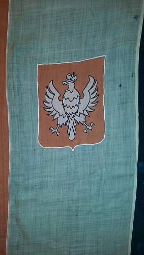 Large Polish Military Battle guidon flag circa  1940