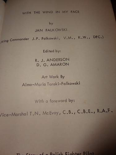 Rare Private Publisbed Polish Wing Commander Book, signed 2 times