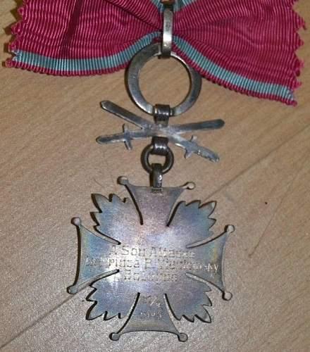 Krzyż Zasługi z mieczami