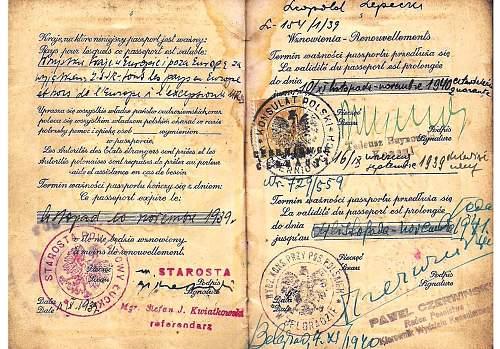 1939 Polish emergency passports