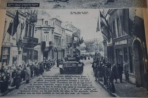 1st Polish Armoured division article in Belgian newspaper 22 october 1944.