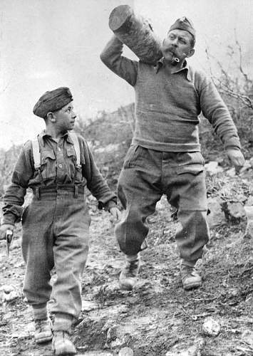 Click image for larger version.  Name:Father and Son gather fire wood Italian Front 1944 3BCKM Strz Alojzy and Ferdynand Piorkowski.jpg Views:217 Size:132.3 KB ID:937022