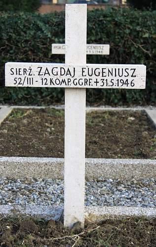 Click image for larger version.  Name:Sierz Eugeniusz Zagdaj 12 Geog Company Grave Bologna.jpg Views:29 Size:211.3 KB ID:939593