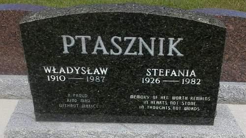 Click image for larger version.  Name:Wladyslaw and Stefania Ptasznik grave.jpg Views:71 Size:192.8 KB ID:941085