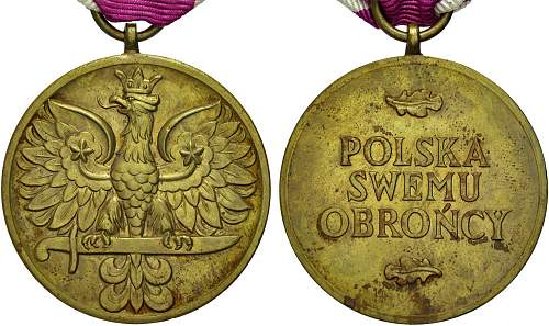 Click image for larger version.  Name:Medal Wojska obv and reverse.jpg Views:31 Size:128.6 KB ID:955371