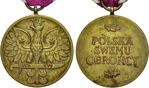 Click image for larger version.  Name:Medal Wojska obv and reverse.jpg Views:23 Size:128.6 KB ID:955371