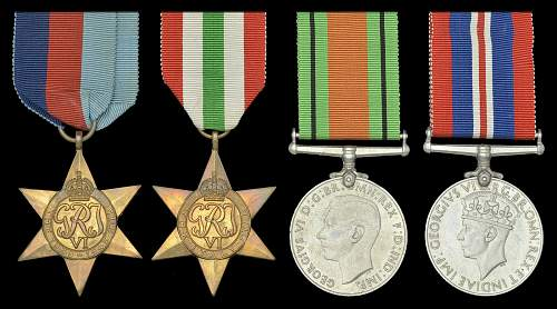 Click image for larger version.  Name:39 45 Star Italy Star Defence Medal and 39 45 War Medal obv.jpg Views:72 Size:166.5 KB ID:955372