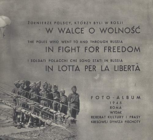 WANTED !! BOOK the Poles who went to and Through Russia in Fight For Freedom