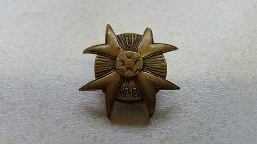 Genuine pre ww.2 polish lancers badge for sale