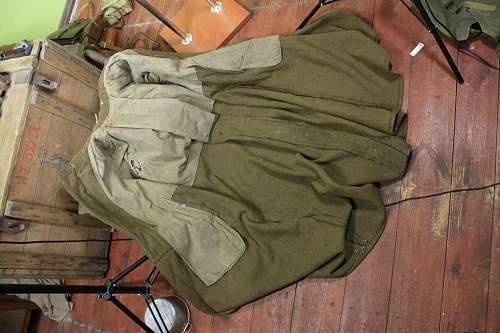 Original Prewar Wz.37 Polish Army Field Cap and Wz.36 Polish Army Starzy Sierzants coat, from Marek Dambek's lifetime collection