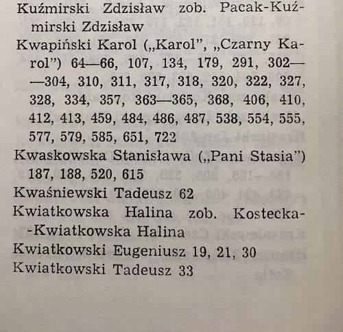 """Battalion """"Zoska """"  Cadet Officer Karol Kwapinski"""