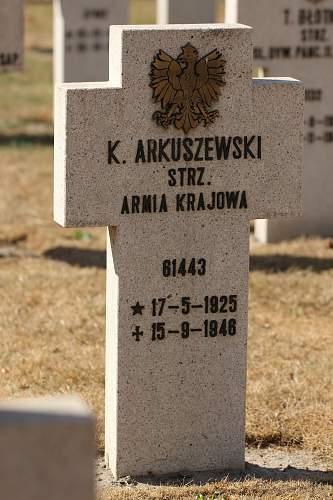 Grave Armia Krajowa on cemetery Breda (Netherlands)