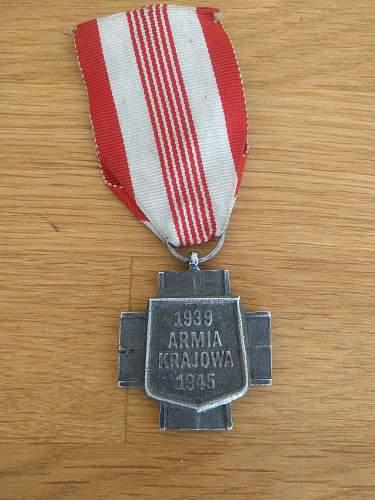 Armia Krajowa Cross for review