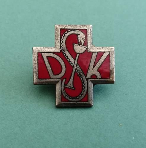Unknown Lorioli DSK Medical Badge