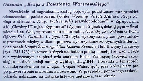 The Cross of the Warsaw Uprising (Krzyż Powstania Warszawskiego)