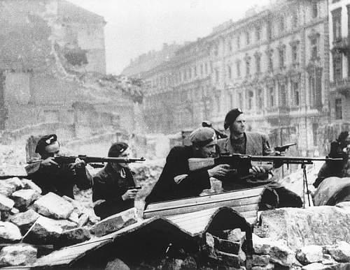 Click image for larger version.  Name:Warsaw Uprising by Tomaszewski (Mazowiecka St.).jpg Views:205 Size:97.9 KB ID:399658