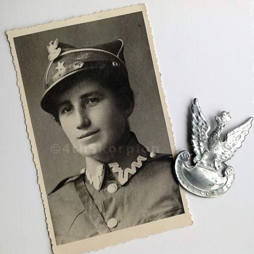 Portrait of Female Officer in Wilno  A.K.