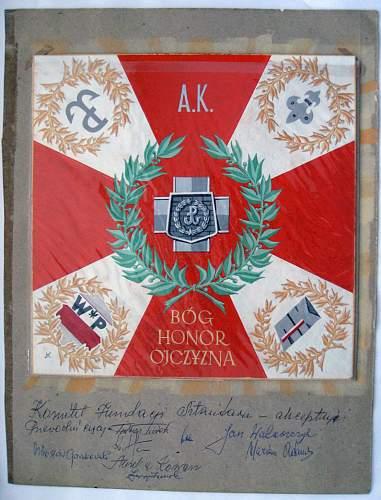27 pp AK post war 'colours' artwork