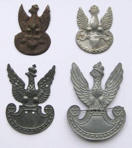 Polish Armia Krajowa (AK or Home Army) caps