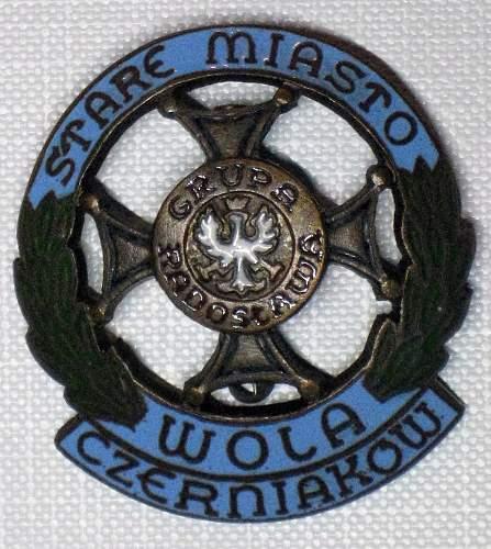 A.K. unit badges