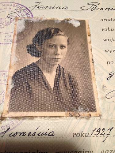 "Janina Bielska   aka""Gurta Jaquar"" Chrismas 70 years ago"