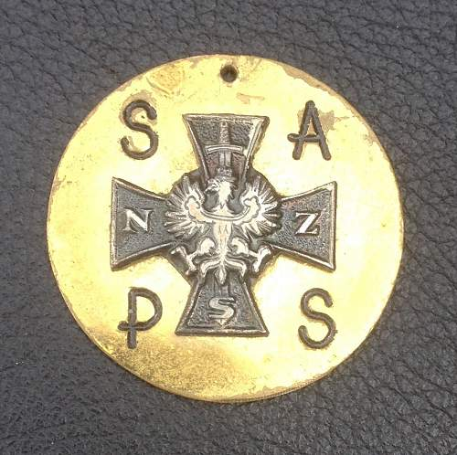 Narodowe Siły Zbrojne (NSZ) vets badge/tag