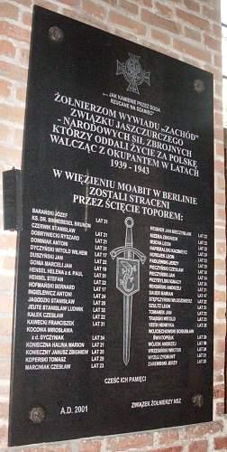 ZJ Commemorative plaque at St. Brigida's Basilica in Gdansk