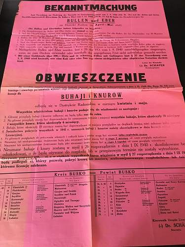 German Polish posters from Occupied Territories.