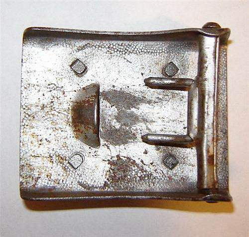 Ealy Wiedman SchuPo Buckle Compared With Two-Piece SchuPo Buckle (Assman?)