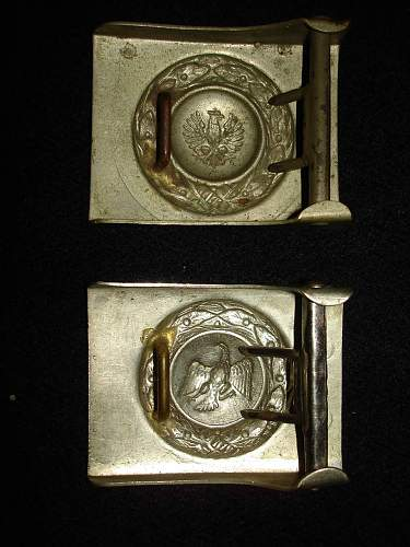 1st and 2nd Pattern Prussian Police Buckles