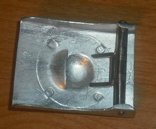 Aluminum POLICE Belt buckle marked OLC ??