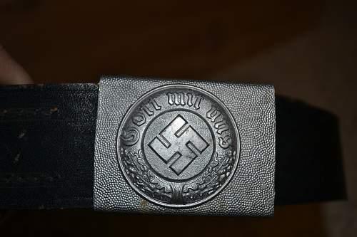 Police Buckle? with belt  Original?