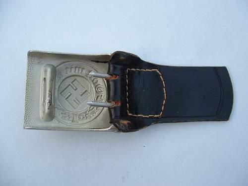 C.T.D. tabbed aluminum Police buckle - EM/NCO