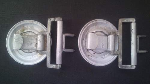 Two police buckles marked SS ??