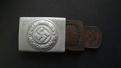 Cut off polizei buckle