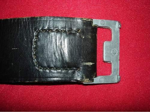 Polizei buckle - is the belt original?