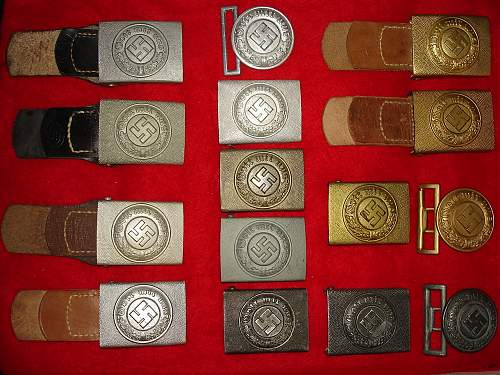 My collection of buckles police