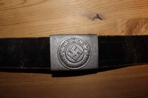 Gendarmerie belt and buckle set