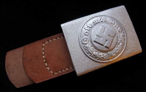 Police belt buckle R.S.S.