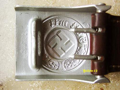 Police belt buckle R.S.S.