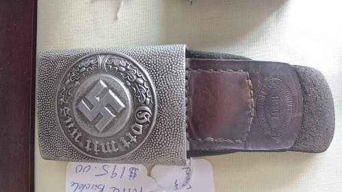 police buckle and belt