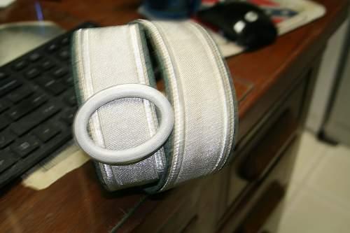 SS Polizei brocade buckle in aluminum
