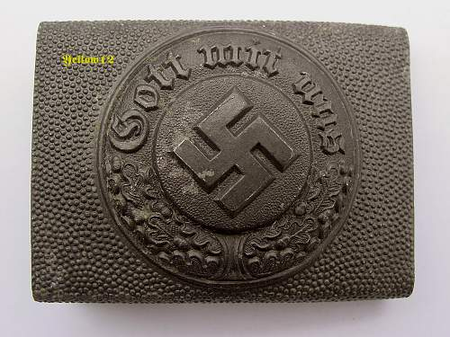 Question. G.H osang police buckle.