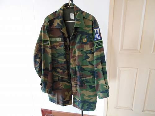 South Korea camouflague uniforms 1990-2010