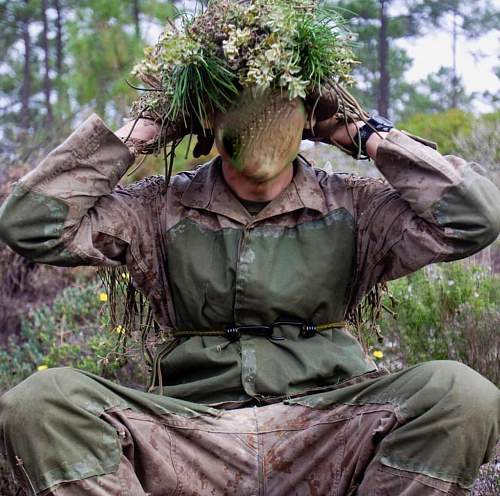 Usmc sniper school ghillie suit