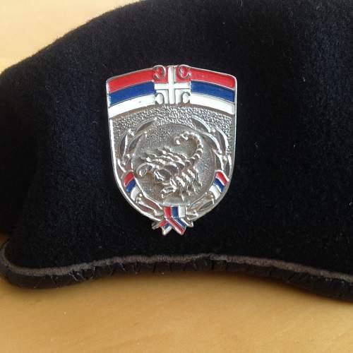 Serbian Krajina war berets
